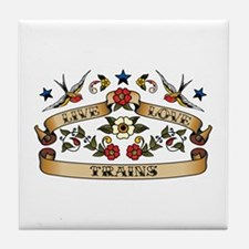Live Love Trains Tile Coaster
