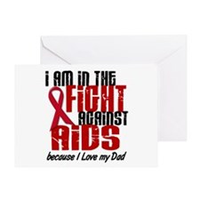 In The Fight Against AIDS 1 (Dad) Greeting Card