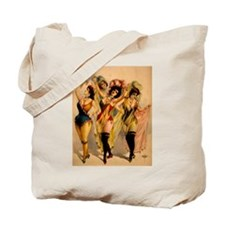 Four Burlesque Girls Tote Bag