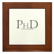 PhD Framed Tile