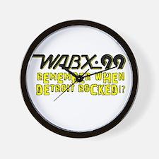 "WABX ""Remember"" Wall Clock"