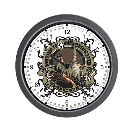 Motivated Soccer Wall Clock