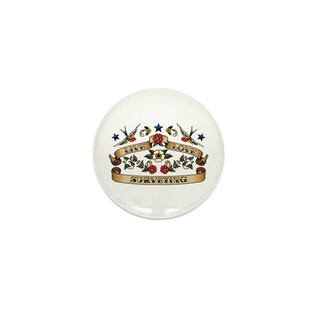 Live Love Surveying Mini Button (10 pack)