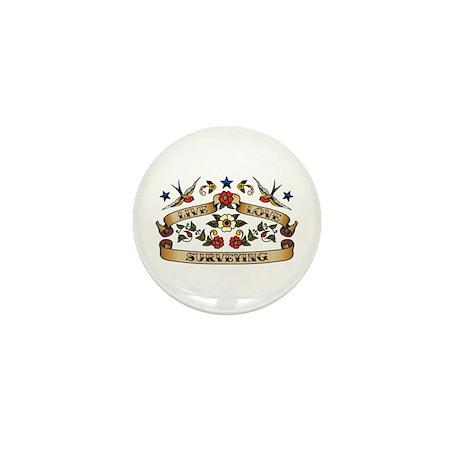 Live Love Surveying Mini Button (100 pack)