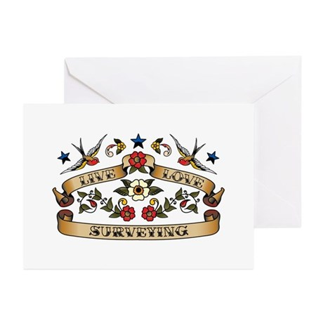 Live Love Surveying Greeting Cards (Pk of 20)