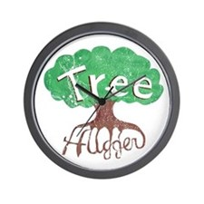 Earth Day : Tree Hugger Wall Clock