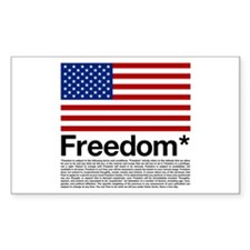 Freedom Terms and Conditions Rectangle Decal