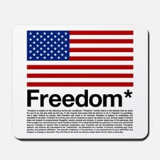 Freedom Terms and Conditions Mousepad