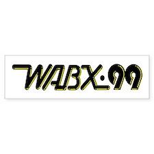 WABX~99 Bumper Car Sticker