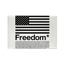 Freedom Terms and Conditions Rectangle Magnet