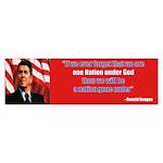 Reagan one nation Bumper Sticker (50 pk)