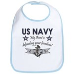 US Navy Aunt freedom Bib