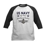 US Navy Aunt freedom Kids Baseball Jersey