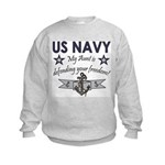 US Navy Aunt freedom Kids Sweatshirt
