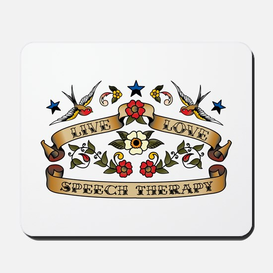 Live Love Speech Therapy Mousepad