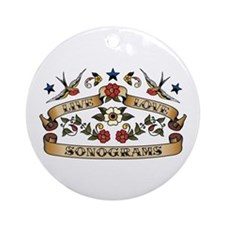 Live Love Sonograms Ornament (Round)