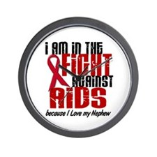 In The Fight Against AIDS 1 (Nephew) Wall Clock