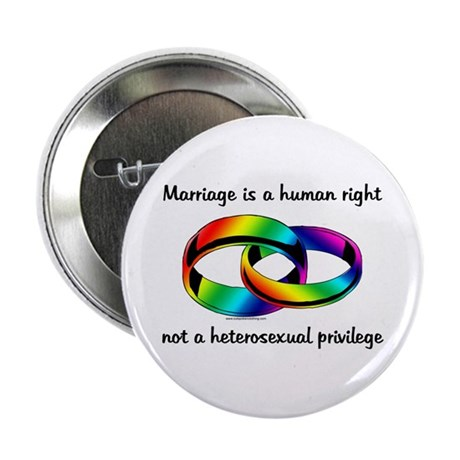 Marriage is a Human Right Button