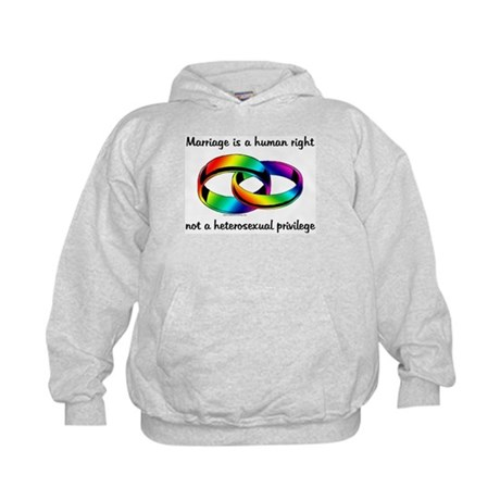 Marriage is a Human Right Kids Hoodie