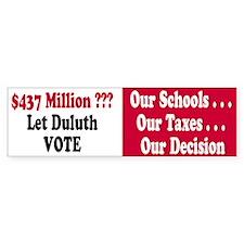 Let Duluth Vote Bumper Bumper Sticker