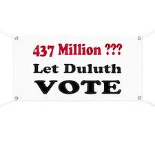 Let Duluth Vote Banner