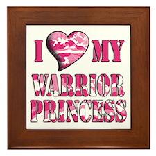 I Sway Heart My Warrior Princ Framed Tile