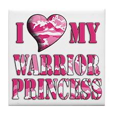 I Sway Heart My Warrior Princ Tile Coaster