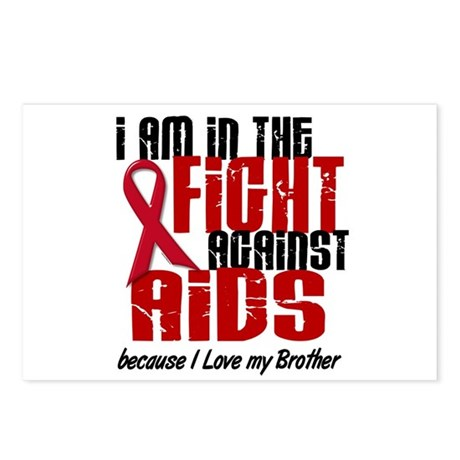 In The Fight Against AIDS 1 (Brother) Postcards (P