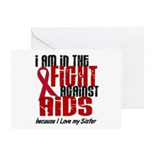 In The Fight Against AIDS 1 (Sister) Greeting Card