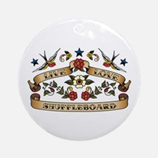 Live Love Shuffleboard Ornament (Round)