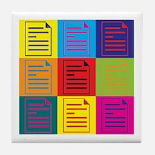 Proofreading Pop Art Tile Coaster