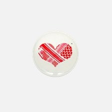 Keffiyeh love red Mini Button (10 pack)