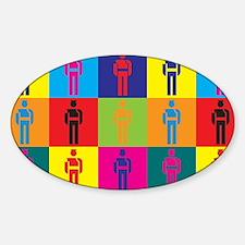 Probation Pop Art Oval Decal