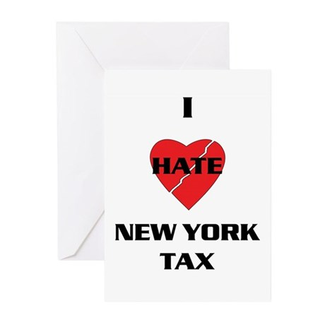 NY On line tax Sucks Greeting Cards (Pk of 10)