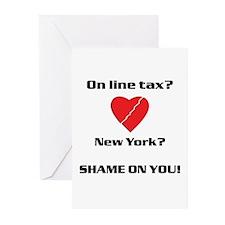 NY On line tax Sucks Greeting Cards (Pk of 20)