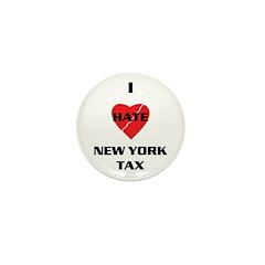 NY On line tax Sucks Mini Button (10 pack)