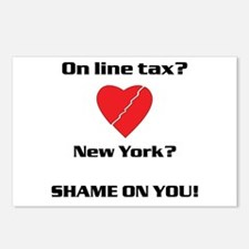 Shame on New York Postcards (Package of 8)