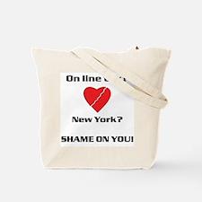 NY On line tax Sucks Tote Bag
