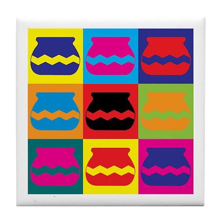 Pottery Pop Art Tile Coaster