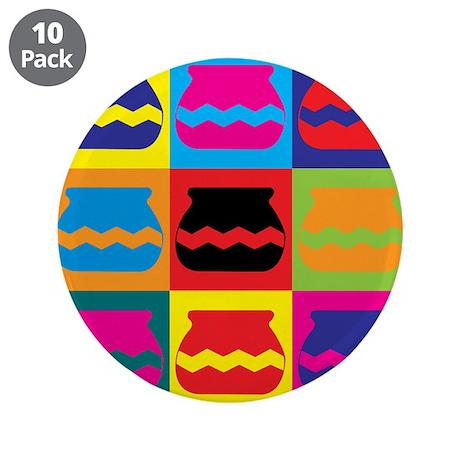 """Pottery Pop Art 3.5"""" Button (10 pack)"""