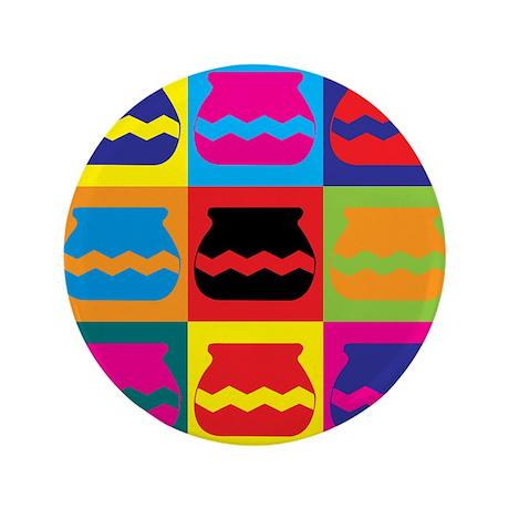 """Pottery Pop Art 3.5"""" Button (100 pack)"""