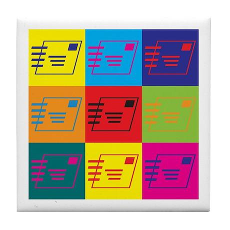 Postal Service Pop Art Tile Coaster