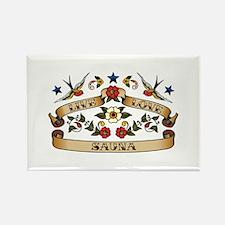 Live Love Sauna Rectangle Magnet (100 pack)