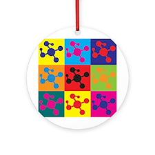Polymer Chemistry Pop Art Ornament (Round)