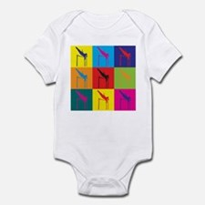 Pole Vaulting Pop Art Infant Bodysuit