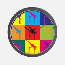 Pole Vaulting Pop Art Wall Clock