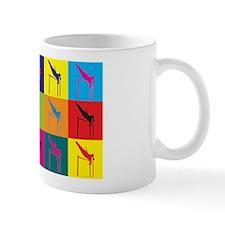 Pole Vaulting Pop Art Mug