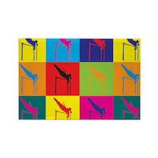 Pole Vaulting Pop Art Rectangle Magnet (100 pack)