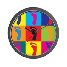 Podiatry Pop Art Wall Clock