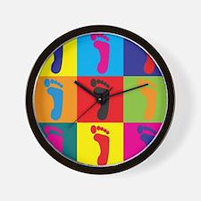 Podiatry Pop Art Wall Clock